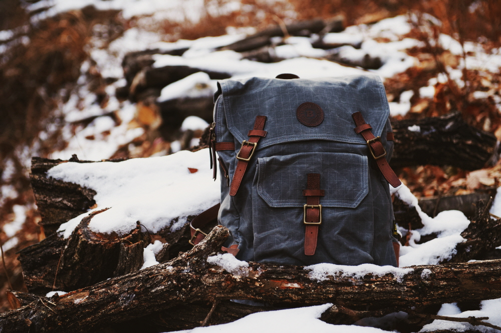 waxed canvas backpack