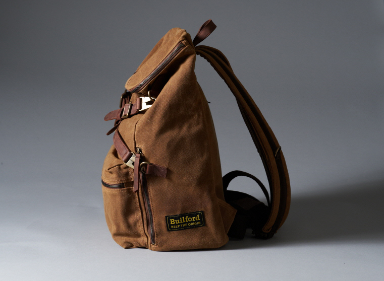 Builford waxed canvas hiking backpack